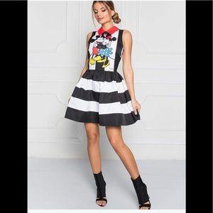Mickey & Minnie Mouse Striped sleeveless dress